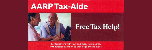 AARP Tax-Aide/Preparation - Every Tuesday Feb 2nd-April 12th 10 am-2 pm