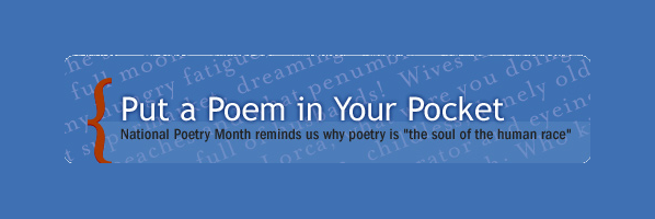 Stop by for a pocket-sized poem, Thursday April 24th, 10am-5pm