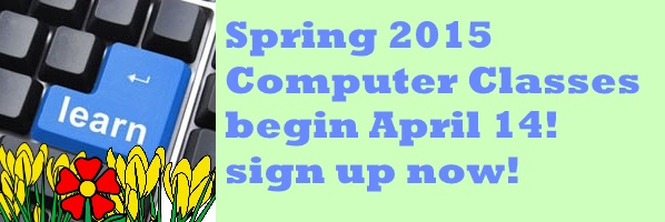 Registration Ongoing at Main Library for Spring 2015 Term of Computer Classes