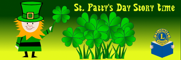 St. Patty's Day Story Time - Saturday, March 14, 11 am - PREREGISTER