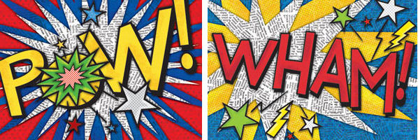 Onomatopoeia Art, Thursday, July 23rd, 2:00pm, 5th-8th graders