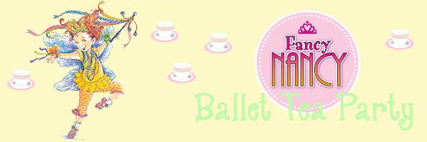 Fancy Nancy Ballet Tea Party - August 13, 11:00 am - PREREGISTER