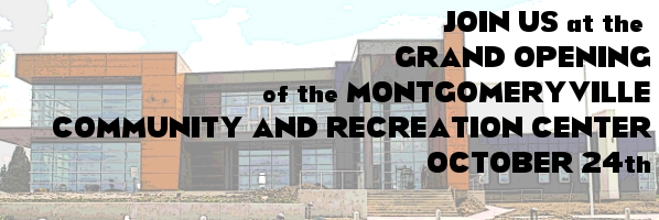 We'll be at the Grand Opening of the Montgomery Township Community and Recreation Center