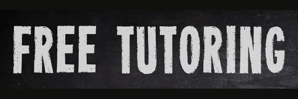 Free Tutoring, Wednesdays, 5:30-7:00