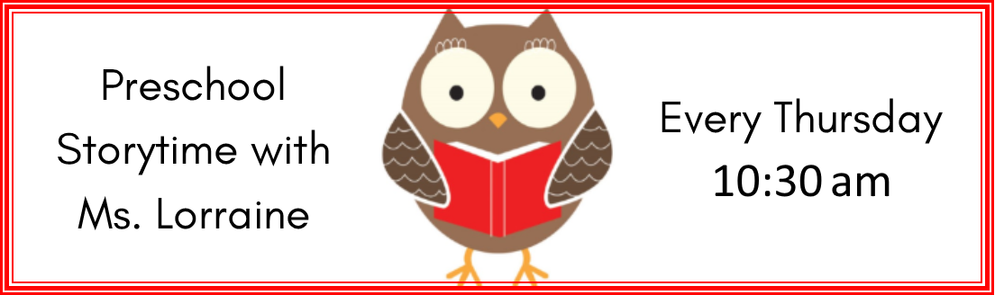 PRESCHOOL STORY TIME at the Conshohocken Free Library