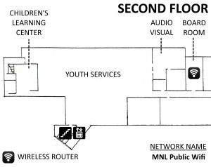Wireless Coverage Map (2nd floor)
