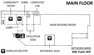 Wireless Coverage Map (Main Floor)
