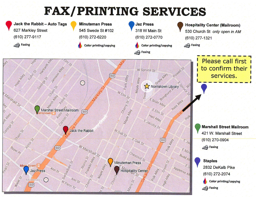 fax locations map