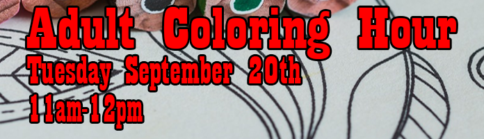 Adult Coloring Hour at Main Library