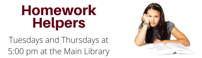 Homework Helpers at the Main Library