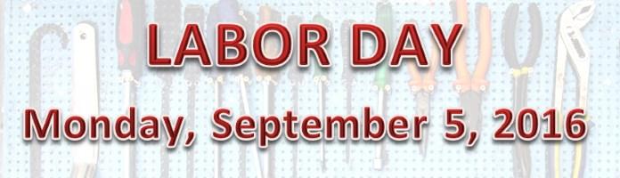 Labor Day Closure
