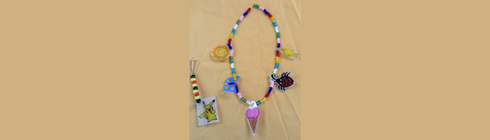Shrinky Dink Jewelry at the Main Library