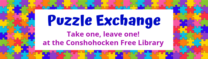 PUZZLE EXCHANGE at the Conshohocken Free Library