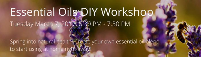 Essential Oils DIY Workshop at the Main Library
