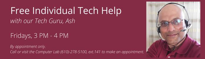 Free Individual Tech Help at the Main Library