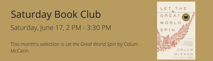 Saturday Book Club at the Main Library