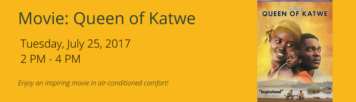 Movie: Queen of Katwe at the Main Library