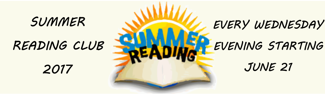 SUMMER READING CLUB 2017
