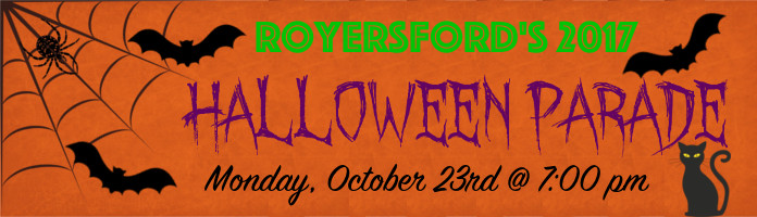 Royersford Halloween Parade - Monday, October 23 @ 7:00 pm on Main St.
