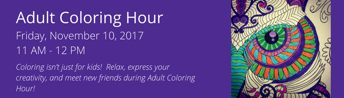 Adult Coloring Hour at the Main Library