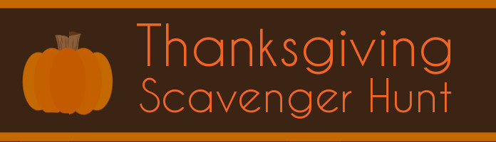 Thanksgiving Scavenger Hunt - Monday, November 20 @ 3:00 pm - PREREGISTER