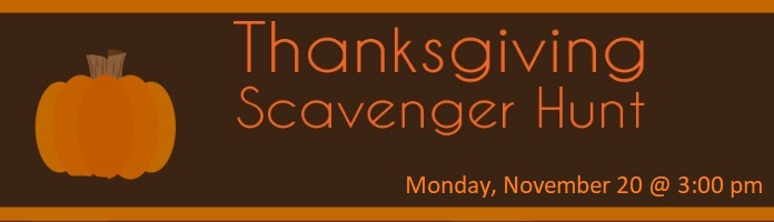 Thanksgiving Scavenger Hunt @ Royersford Free Public Library