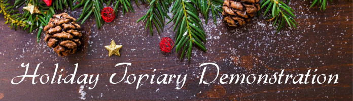 Holiday Topiary Demonstration - Wed., Nov. 29 @ 6:30 pm - PREREGISTER