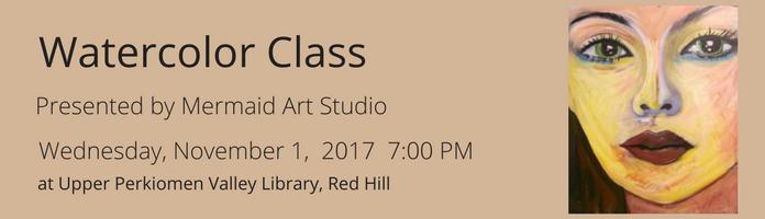 Watercolor Class at UPVL Redhill
