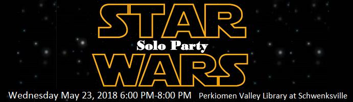Star Wars Solo Party at PVL Schwenksville