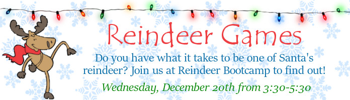 Reindeer Games at the Royersford Free Public Library