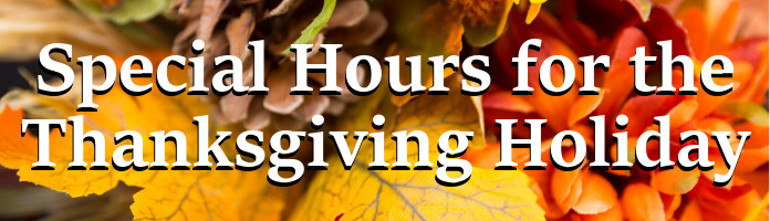 Click Here to see Royersford Library's Thanksgiving Holiday Hours
