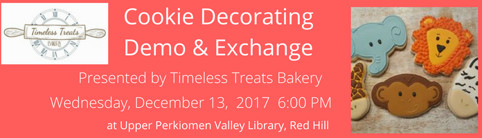 Cookie Decorating Demo & Exchange at UPVL Red Hill