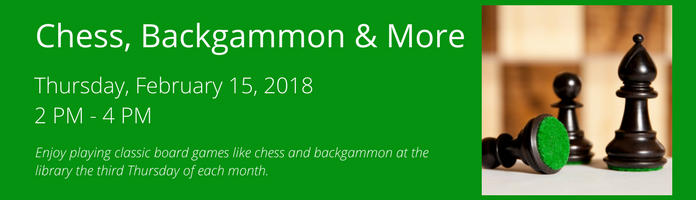 Chess, Backgammon & More at the Main Library