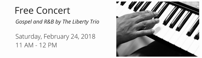Free Concert: Gospel and R&B by The Liberty Trio at the Main Library