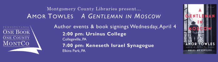 "Book Signing with Amor Towles, Author of ""A Gentleman in Moscow"""