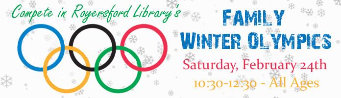 Family Winter Olympics - Saturday, February 24 @ 10:30-12:30 - PREREGISTER