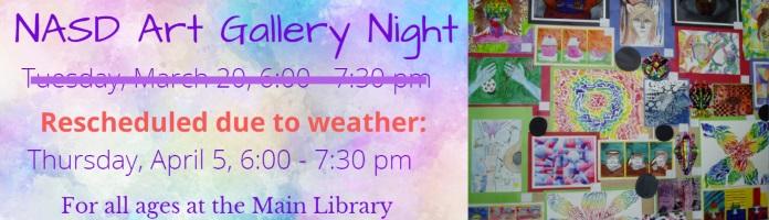 NASD Art Gallery Night at the Main Library