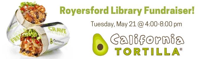 California Tortilla Fundraiser for the Royersford Library's Summer Reading Program