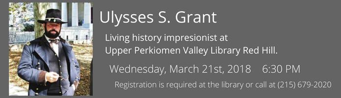 Ulysses S. Grant at Upper Perkiomen Valley Library