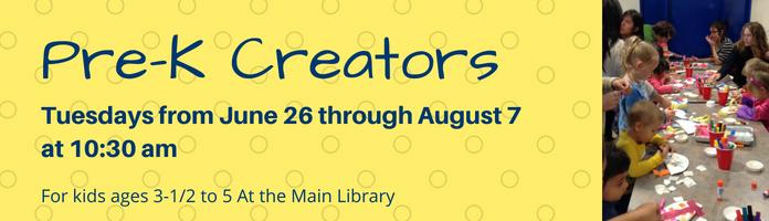 Pre-K Creators at the Main Library