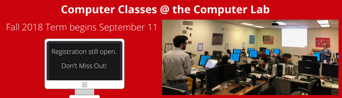 Computer Classes Start Soon at the Main Library