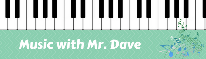 Music with Mr. Dave - Wednesday, November 21 @ 10:15 am