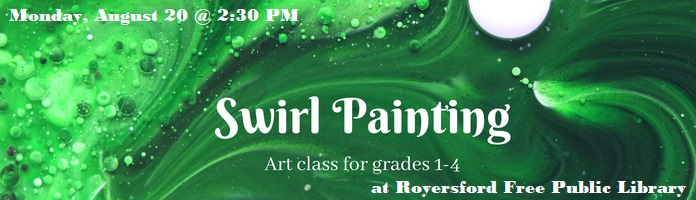Swirl Painting at Royersford Free Public Library (PREREGISTER)