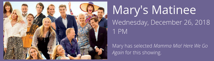 Mary's Matinee at the Main Library