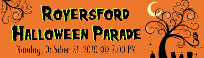 Royersford Halloween Parade - Monday, October 21 @ 7:00 pm on Main St.