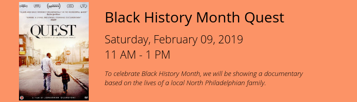 Black History Month Quest at the Main Library