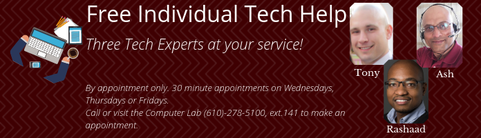 Free Individual Tech Help at the Main Library