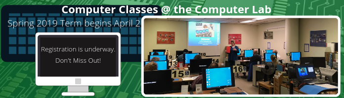 New Term of Computer Classes Coming in April at the Main Library