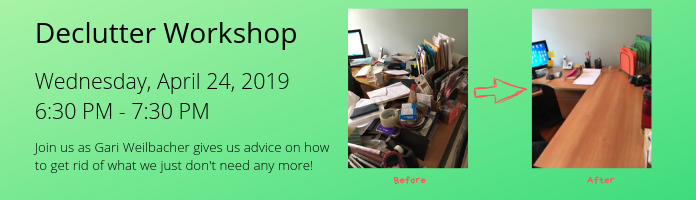 Declutter Workshop at the Main Library