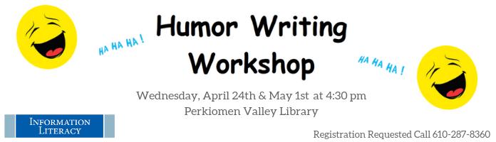 Humor Writing Workshop at Perkiomen Valley Library